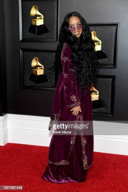 Attends the 63rd Annual GRAMMY Awards at Los Angeles Convention Center on March 14, 2021 in Los Angeles, California.