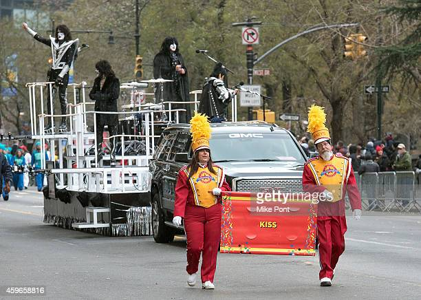 KISS attends the 88th Annual Macy's Thanksgiving Day Parade on Streets of Manhattan on November 27 2014 in New York City