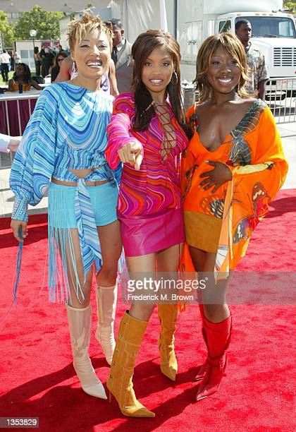 702 attends the 8th Annual Soul Train Lady of Soul Awards at the Pasadena Civic Auditorium August 8 2002 in Pasadena California