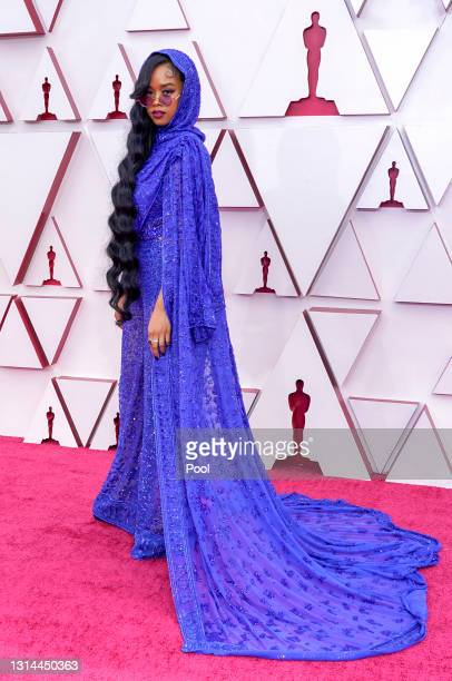 Attends the 93rd Annual Academy Awards at Union Station on April 25, 2021 in Los Angeles, California.