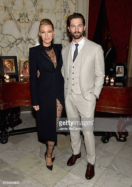 <<attends The Age of Adaline premiere>> at The Metropolitan Club on April 19 2015 in New York City