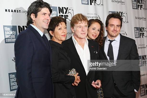 attends the All Is Lost 12 Years A Slave Nebraska premieres during the 51st New York Film Festival at Alice Tully Hall at Lincoln Center on October 8...