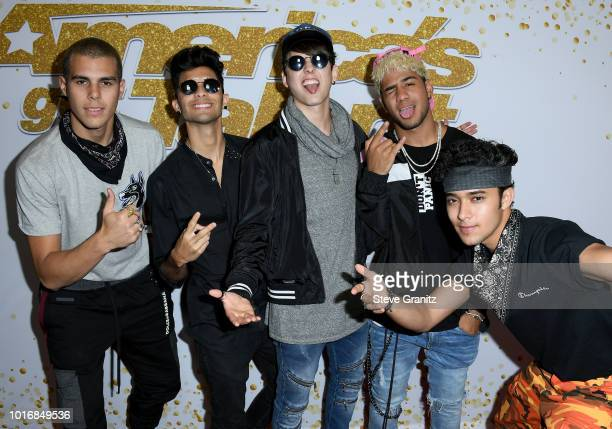 CNCO attends the America's Got Talent Season 13 Live Show at Dolby Theatre on August 14 2018 in Hollywood California
