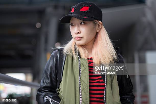 NAKAMURA attends the Anne Sofie Madsen show during Tokyo Fashion Week on March 16 2016 in Tokyo Japan