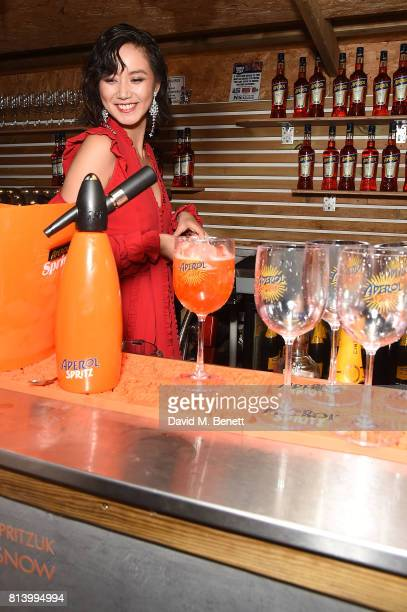 BACHZ attends the Aperol Spritz Social on July 13 2017 in London England