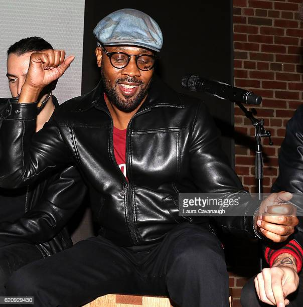 RZA attends the Apple Store Williamsburg presents 'The Art of Beat Making with RZA ROLI' at Apple Store Williamsburg on November 3 2016 in New York...