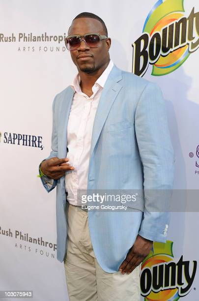S attends the Art For Life East Hampton 11th Annual Benefit hosted by Anthony Anderson at Russell Simmons' East Hampton Estate on July 24 2010 in...