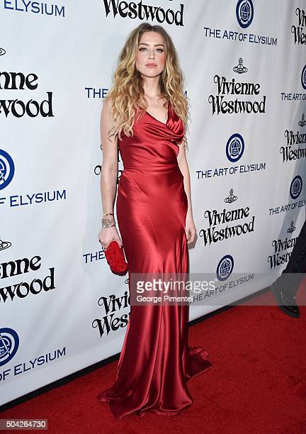 Attends the Art of Elysium 2016 HEAVEN Gala presented by Vivienne Westwood & Andreas Kronthaler at 3LABS on January 9, 2016 in Culver City,...