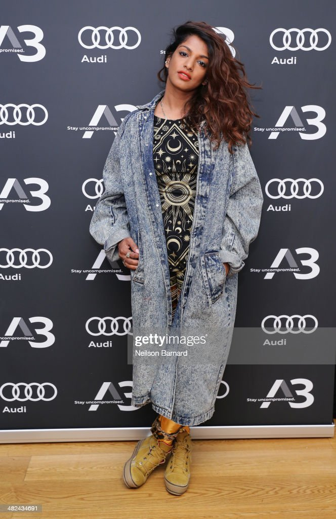 A. attends the Audi A3 Launch Event with M.I.A. on April 3, 2014 at SIR Stage37 in New York City.