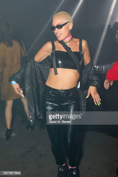EN attends the Axel Arigato launch at Village Underground on September 6 2018 in London England
