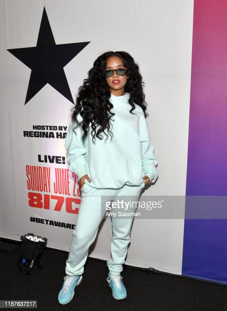 R attends the BET Awards Radio Broadcast Center at Microsoft Theater on June 22 2019 in Los Angeles California