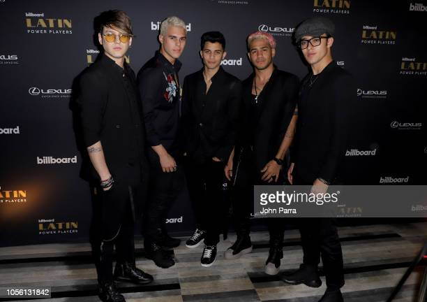 CNCO attends the Billboard 2018 Latin Power Players at W South Beach on November 1 2018 in Miami Beach Florida