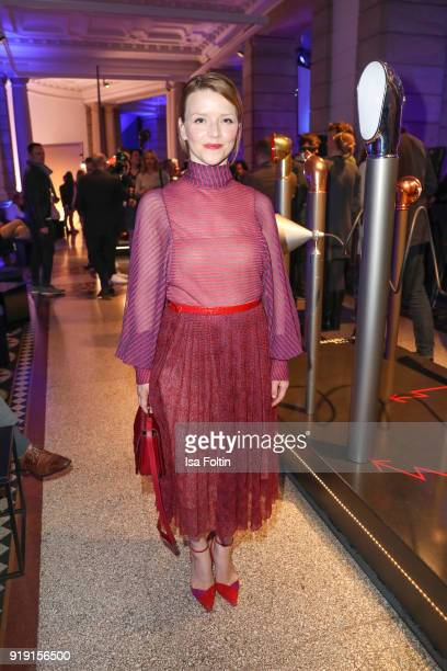 attends the Blue Hour Reception hosted by ARD during the 68th Berlinale International Film Festival Berlin on February 16 2018 in Berlin Germany