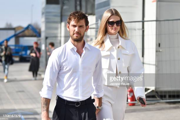 attends the Boss fashion show on February 23 2020 in Milan Italy