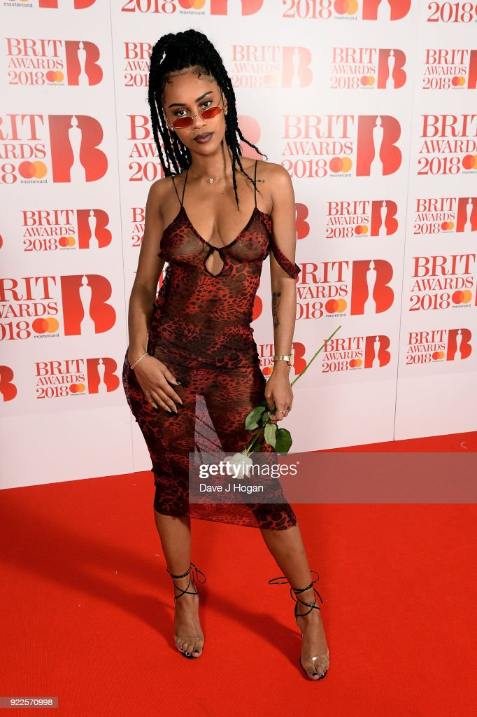 iamddb attends the brit awards 2018 held at the o2 arena on february