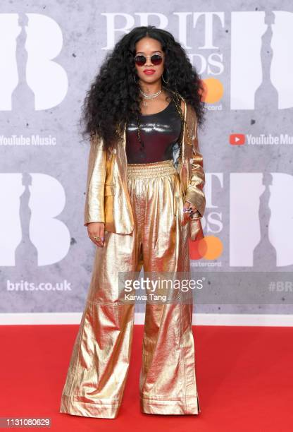 HER attends The BRIT Awards 2019 held at The O2 Arena on February 20 2019 in London England