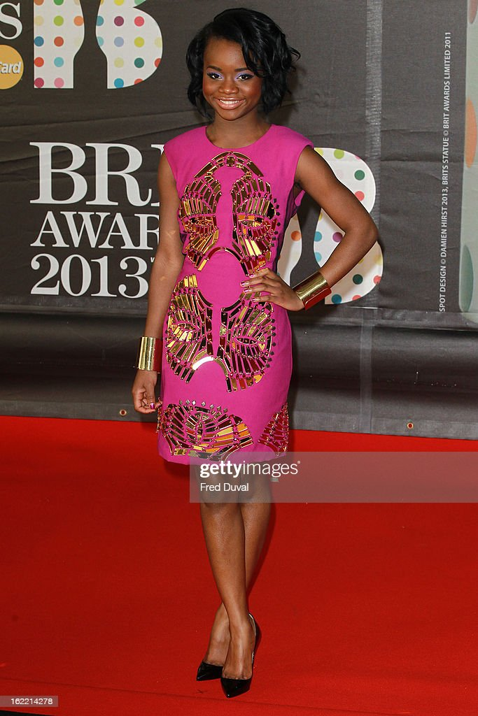A*ME attends the Brit Awards at 02 Arena on February 20, 2013 in London, England.