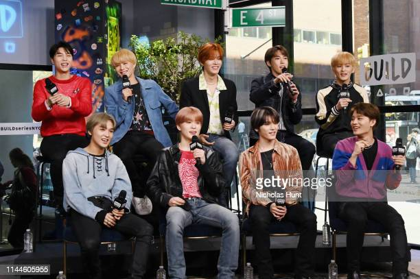 "NCT 127 attends the Build Series to discuss ""NEO CITY—The Origin"" Tour at Build Studio on April 23 2019 in New York City"