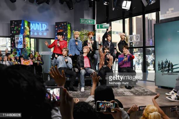 """NCT 127 attends the Build Series to discuss """"NEO CITY—The Origin"""" Tour at Build Studio on April 23 2019 in New York City"""