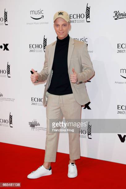 attends the Echo award red carpet on April 6 2017 in Berlin Germany