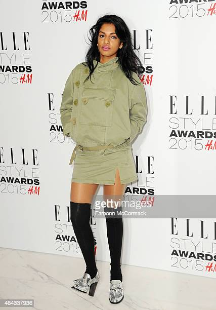 A attends the Elle Style Awards 2015 at Sky Garden @ The Walkie Talkie Tower on February 24 2015 in London England