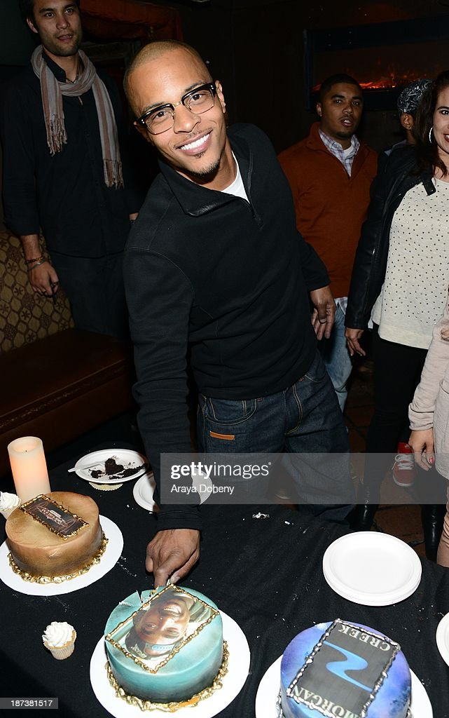 T.I. attends the Emmett/Furla/Oasis Films hosts celebration for the upcoming production of 'Tupac' at Zanzibar on November 7, 2013 in Santa Monica, California.