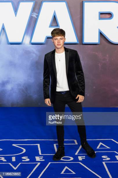 HRVY attends the European film premiere of 'Star Wars The Rise of Skywalker' at Cineworld Leicester Square on 18 December 2019 in London England