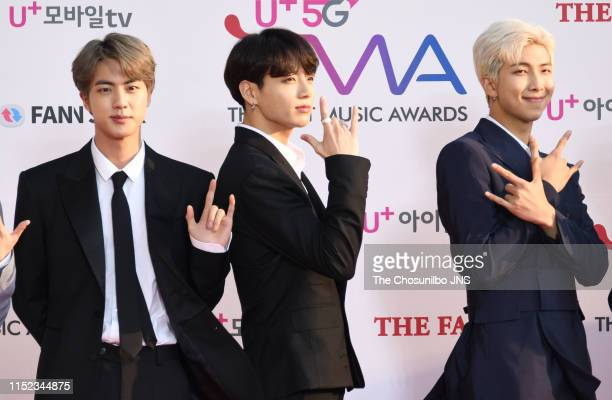 BTS attends 'The Fact Music Awards' held at Namdong Gymnasium in southeastern Incheon on April 24 2019 in Incheon South Korea