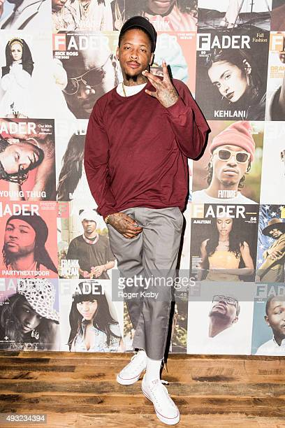 YG attends the Fader Fort presented by Converse at Converse Rubber Tracks Studio on October 17 2015 in Brooklyn New York