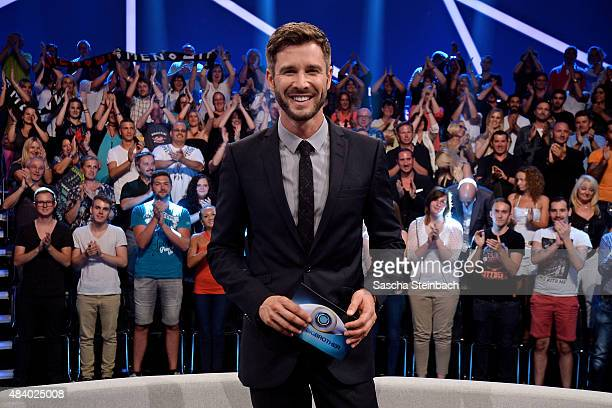 attends the first live show of Promi Big Brother 2015 at MMC studios on August 14 2015 in Cologne Germany