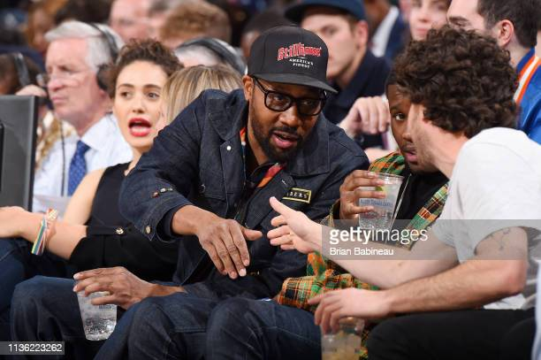 RZA attends the game between the Detroit Pistons and the New York Knicks on April 10 2019 at Madison Square Garden in New York City New York NOTE TO...