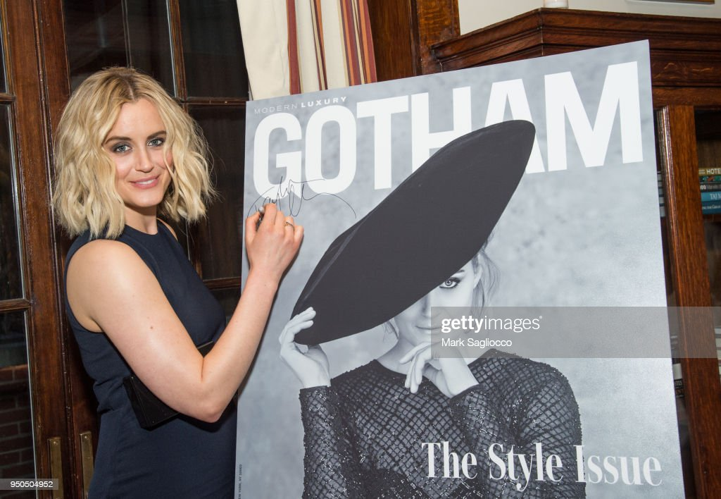 Gotham Magazine VIP Dinner with Cover Star Taylor Schilling