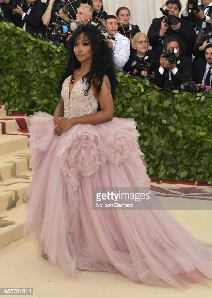 SZA attends the Heavenly Bodies Fashion The Catholic Imagination Costume Institute Gala at The Metropolitan Museum of Art on May 7 2018 in New York...