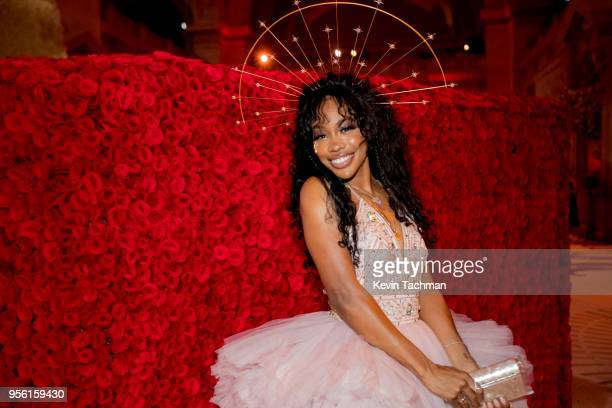 Attends the Heavenly Bodies: Fashion & The Catholic Imagination Costume Institute Gala at The Metropolitan Museum of Art on May 7, 2018 in New York...