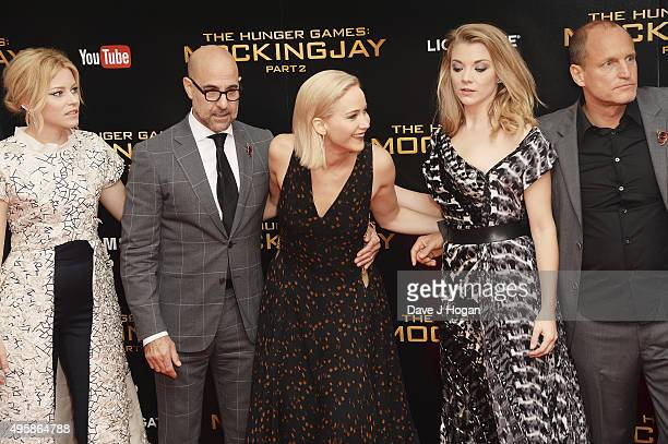 attends The Hunger Games Mockingjay Part 2 UK Premiere at Odeon Leicester Square on November 5 2015 in London England