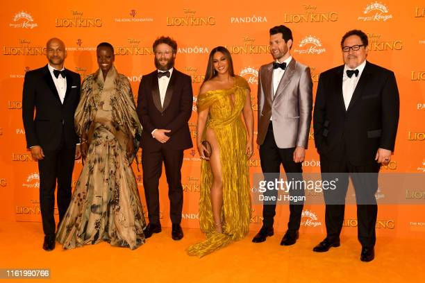 attends The Lion King European Premiere at Leicester Square on July 14 2019 in London England