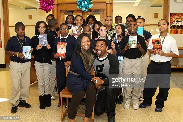 attends the Michael and Mechelle Epps Foundation Media Day at the Crispus Attucks Medical Magnet High School on February 3 2012 in Indianapolis...