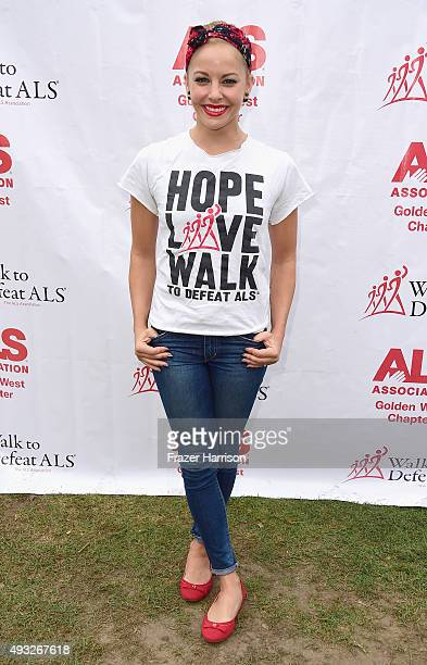 attends the Nanci Ryder's Team Nanci At The 13th Annual LA County Walk To Defeat ALS at Exposition Park on October 18 2015 in Los Angeles California