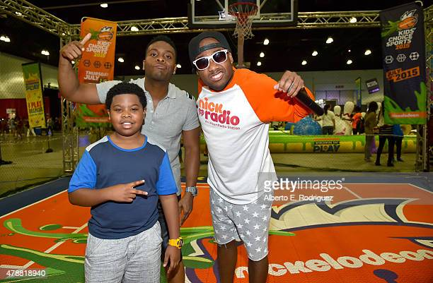attends the Nickelodeon basketball tryouts for the Kids' Choice Sports 2015 'Triple Shot Challenge' At The BET Experience at The LA Convention Center...