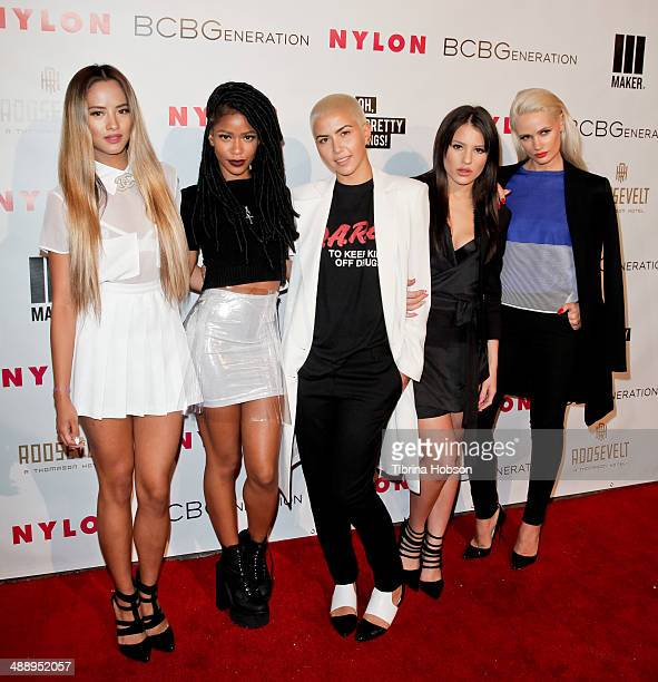 L attends the Nylon Magazine May young Hollywood issue party at Tropicana Bar at The Hollywood Rooselvelt Hotel on May 8 2014 in Hollywood California