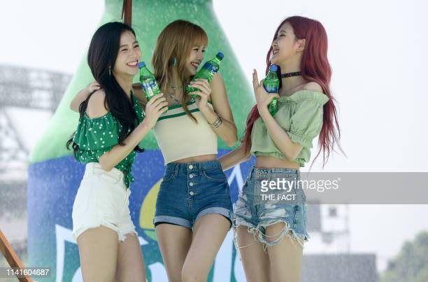 BLACKPINK attends the opening event of 'Waterbomb at Sprite Island' on JULY 21 2018 in Seoul South Korea