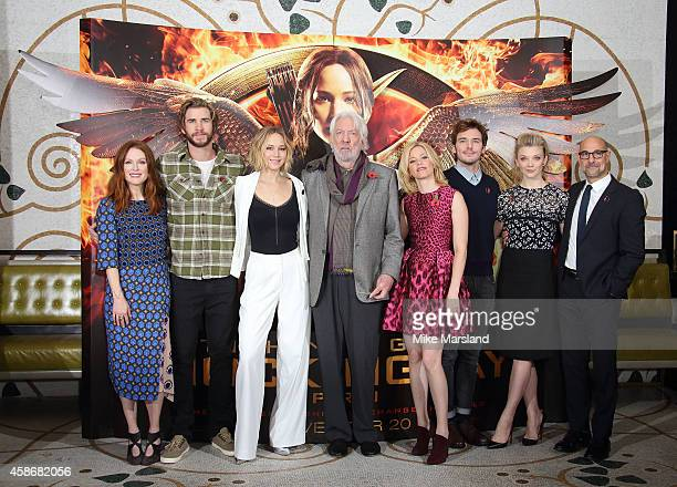 attends the photocall for The Hunger Games Mockingjay Part 1 at Corinthia Hotel London on November 9 2014 in London England
