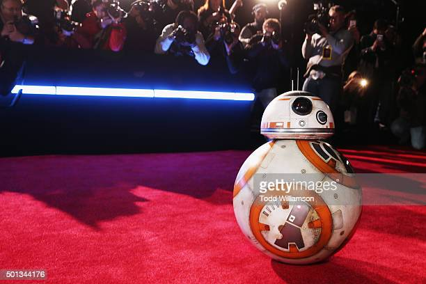 BB8 attends the Premiere of Walt Disney Pictures and Lucasfilm's Star Wars The Force Awakens at on December 14 2015 in Hollywood California