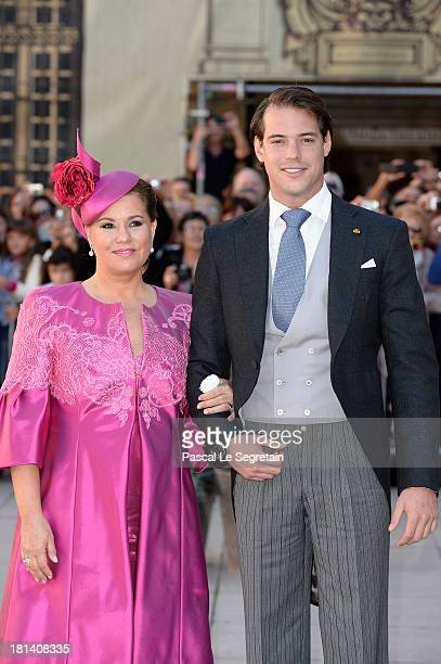 Attends the Religious Wedding Of Prince Felix Of Luxembourg & Claire Lademacher at the Basilique Sainte Marie-Madeleine on September 21, 2013 in...