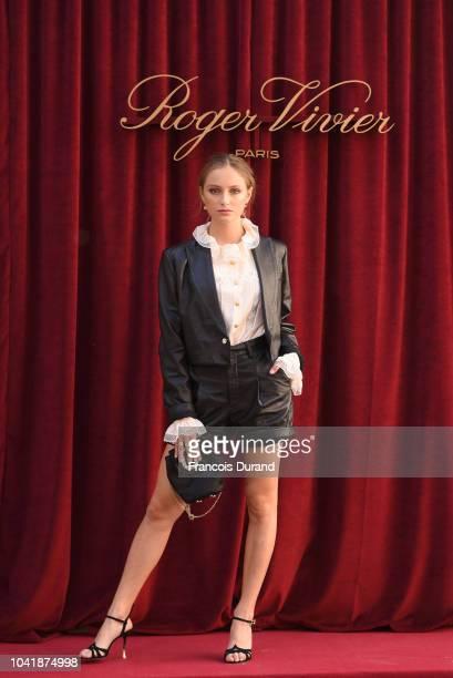 attends the Roger Vivier Presentation Spring/Summer 2019 during Paris Fashion Week on September 27 2018 in Paris France