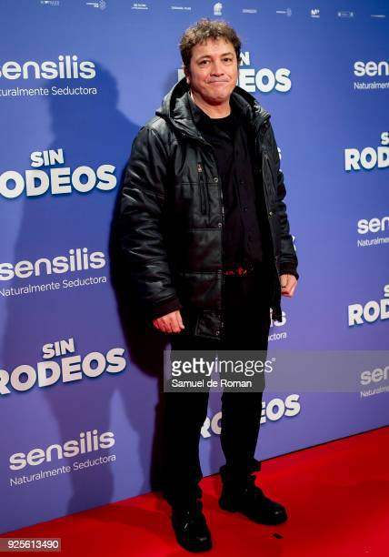 attends the 'Sin Rodeos' Madrid premiere on February 28 2018 in Madrid Spain