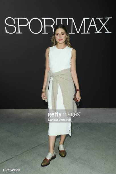 Attends the Sportmax show during Milan Fashion Week Spring/Summer 2020 on September 20, 2019 in Milan, Italy.