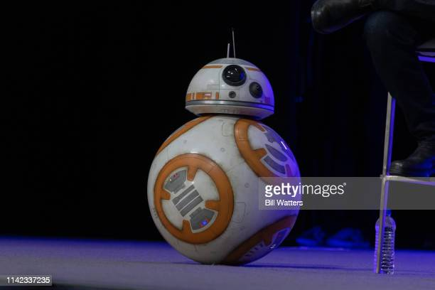 BB8 attends the Star Wars Episode IX panel presentation at the 2019 Star Wars Celebration on April 12 2019 in Chicago Illinois