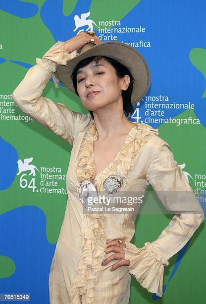 attends the Sukiyaki Westerm Django photocall in Venice during day 8 of the 64th Venice Film Festival on September 5 2007 in Venice Italy
