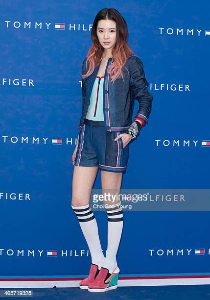 IRENE attends the Tommy Hilfiger flagship store opening at Tommy Hilfiger on January 23 2014 in Seoul South Korea